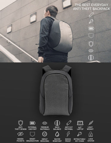 Waterfly Anti Theft Backpack