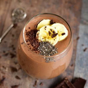 Plant-based chocolate cacao protein smoothie