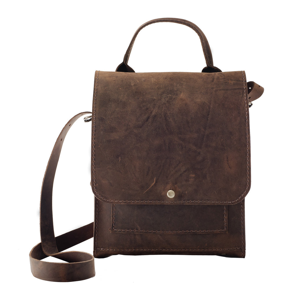 Mayfair Brown Leather Convertible Backpack