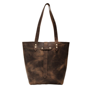 Brown Leather Tote Bag, Grace Leather Bag