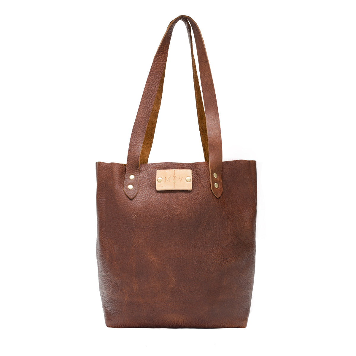 Copper Leather Sophia Tote Bag, Oil Tanned Leather Handbag