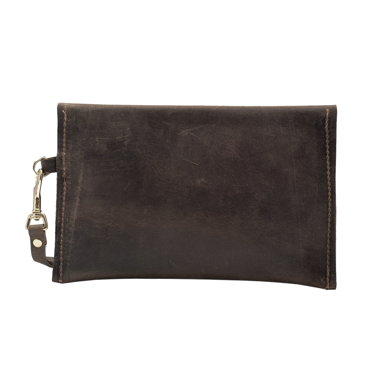 Leather Clutch with Calf Hair Flap, Alyssa Clutch