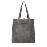 Grey Leather Tote Bag, Grey Handbag, Katherine Tote