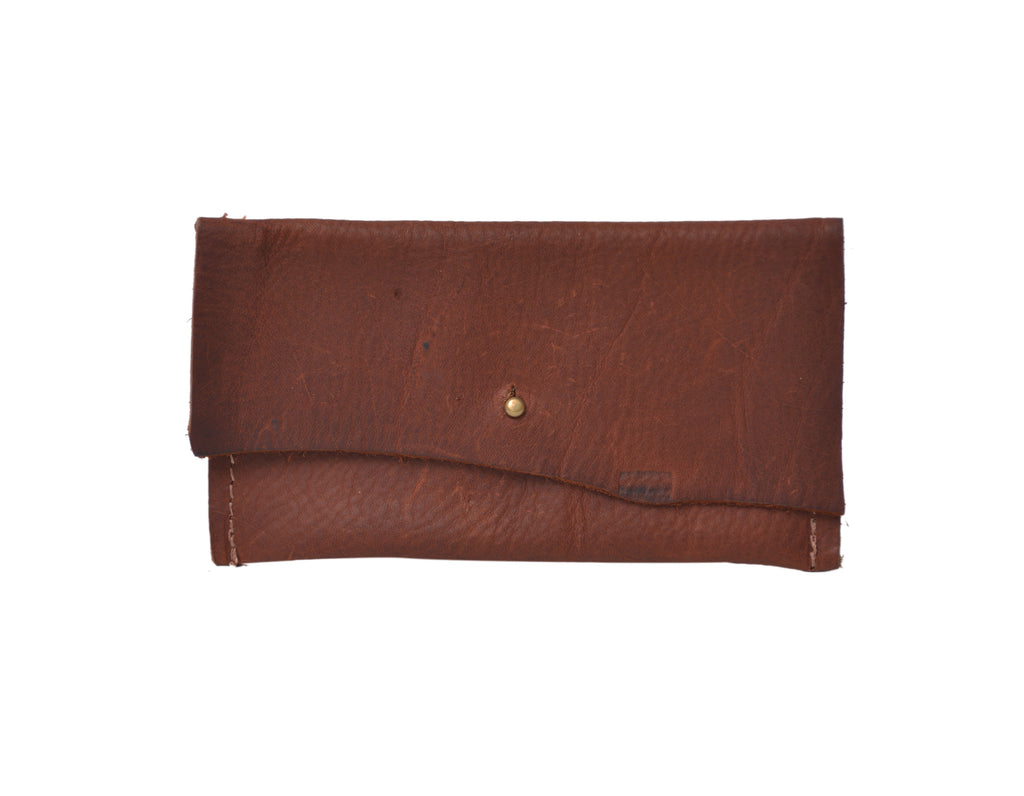 Leather Wallet, Mini Wallet, Copper Leather