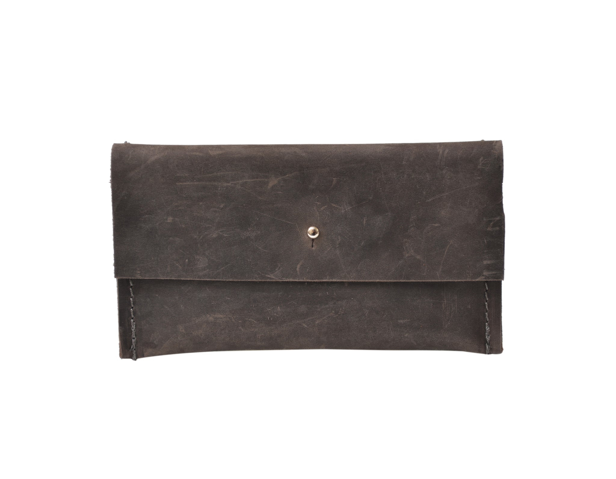 Leather Wallet, Grey Leather Mini Wallet