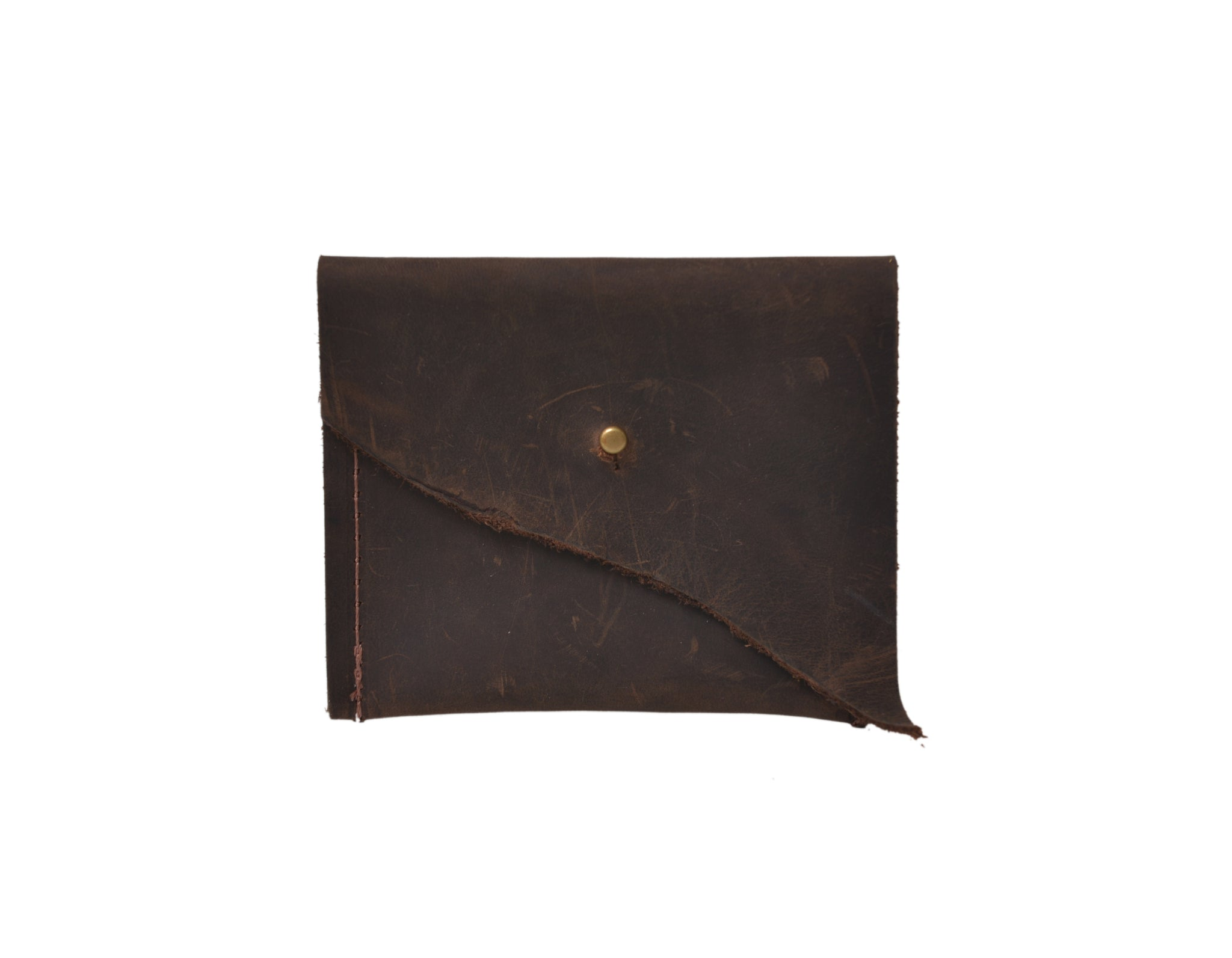 Leather Wallet, Brown Mini Wallet