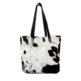 Cow Hair Tote, Zoey Tote Bag, Vegetable Tanned Handles