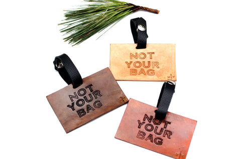 Leather Luggage Tag, Not Your Bag