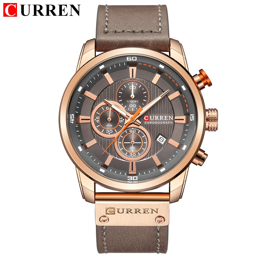 CURREN Fashion Date Quartz Men Watches Top Brand Luxury Male Clock Chronograph Sport Mens Wrist Watch Hodinky Relogio Masculino