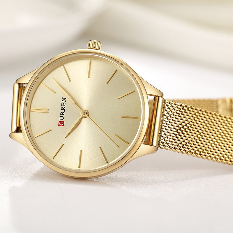 CURREN Hot Fashion Simple Style New Ladies Bracelet Watches Women Dress Wristwatch Quartz Female Clock Gifts relogios feminino