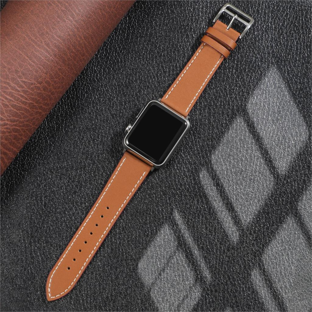 Leather strap For Apple watch band 44mm 40mm 38mm 42mm iWatch Single tour bracelet watch band for Applewatch series 5 4 3 se 6