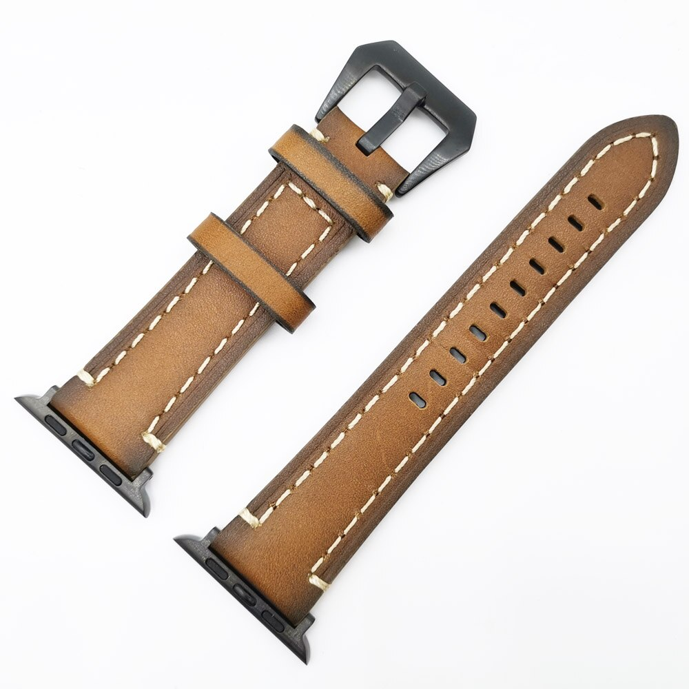 Leather strap for apple watch band 42mm Replacement Wristbands iWatch series 5 4 3 2 1 watchbands bracelet 44mm 40mm 38mm loop