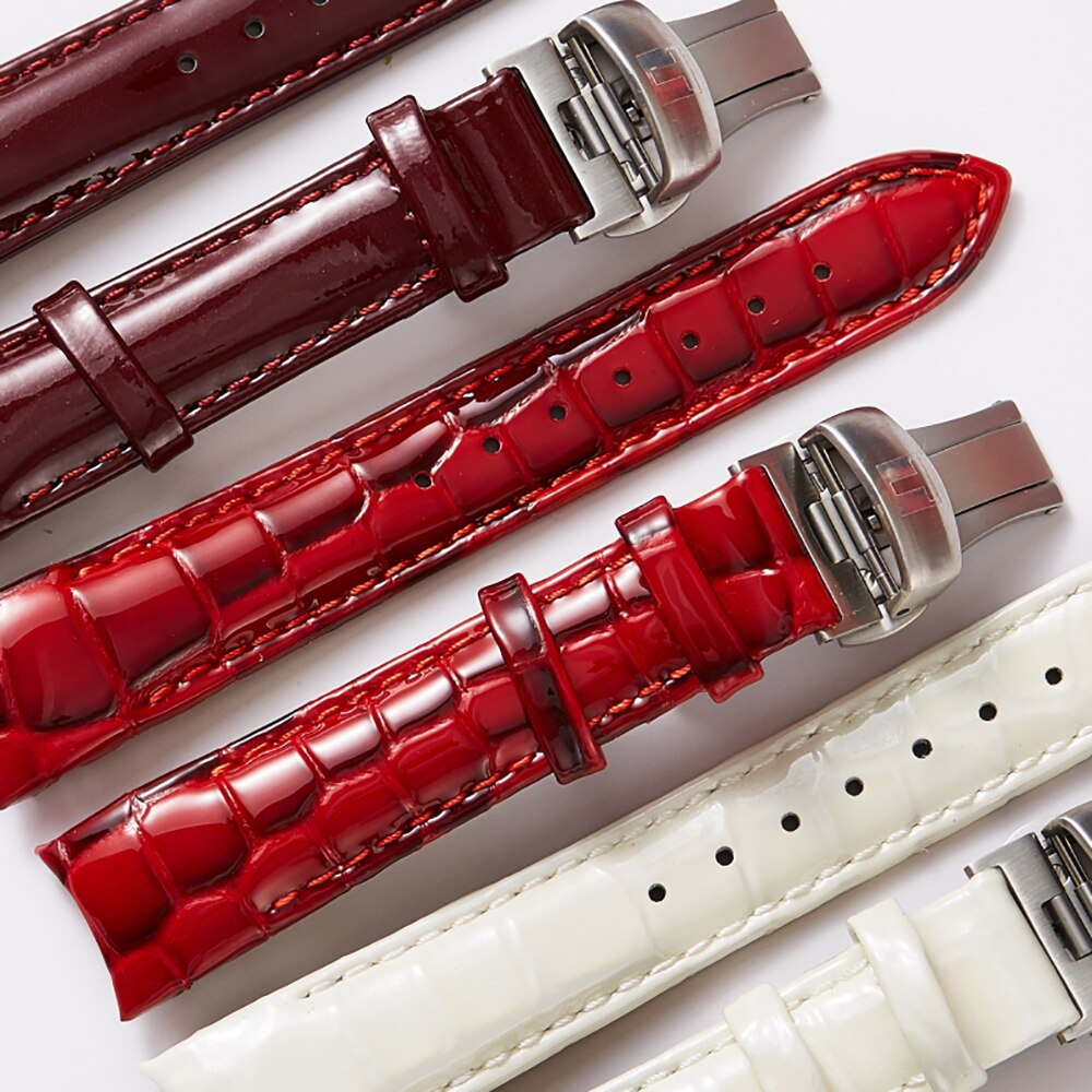 Notched Watch Accessorie Leather Strap Crocodile pattern Watch Bracelet Women's Watch Band 18mm Watchband for Tissot 1853 T035