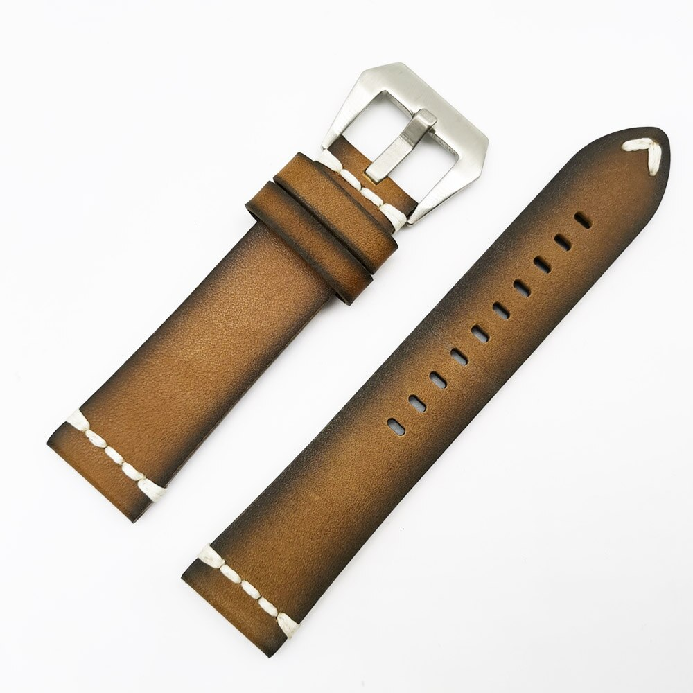 Watch Accessories Watchband Leather Watch Strap 18 20mm 22mm 24mm Watch band For Panerai Seiko Fossil Cow Leather Strap