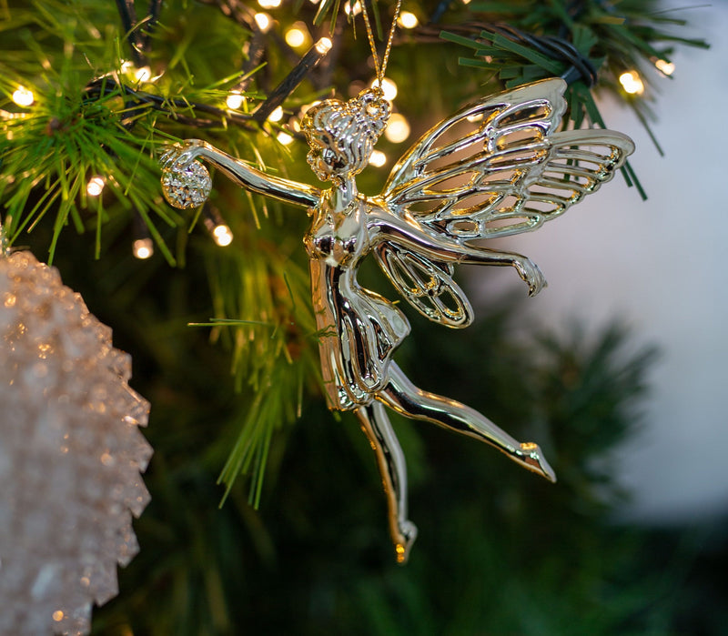 Hanging Gold Fairy Decorations (Pack of 2)