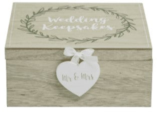 Love Story Laurel Leaf  design Keepsake box