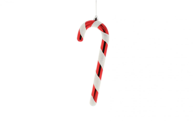 Shatterproof candy cane decoration