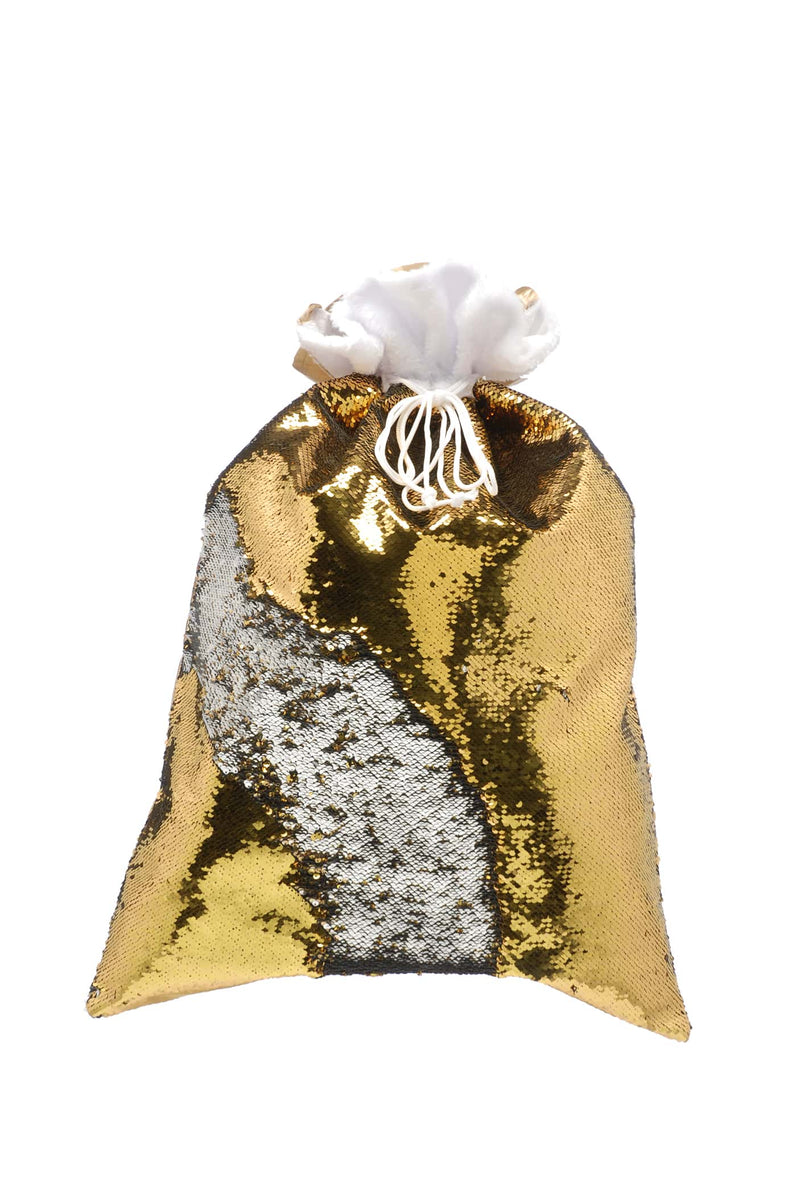 Gold / silver sequin stocking with cuff