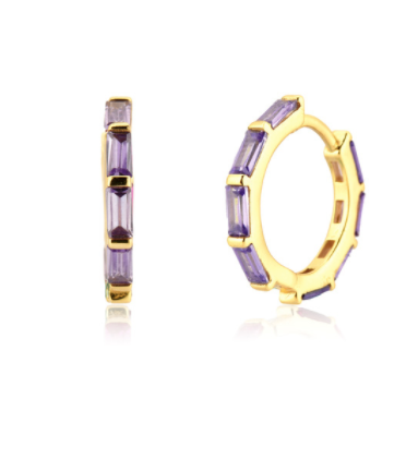 Pendientes Crystal Lila - Dalila Jewels