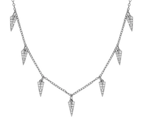 Collar Triangle Plata - Dalila Jewels