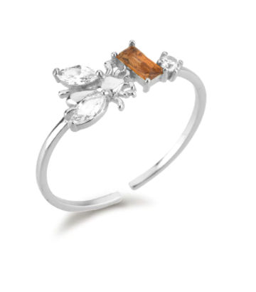 Anillo Bee Miel Plata - Dalila Jewels
