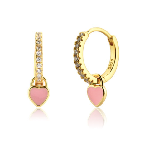 Pendientes Love Pink - Dalila Jewels