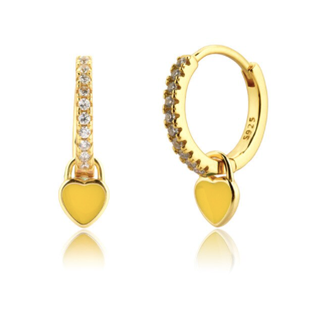 Pendientes Love Yellow - Dalila Jewels