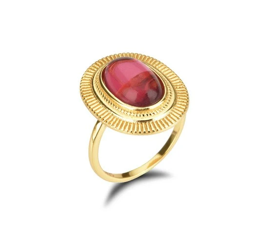 Anillo Oval Rojo - Dalila Jewels