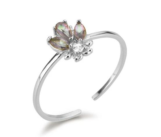 Anillo Bee Grey Plata - Dalila Jewels