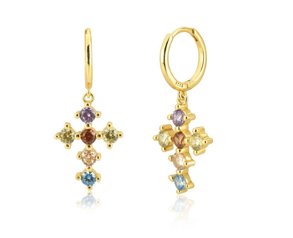 Pendientes Cross - Dalila Jewels