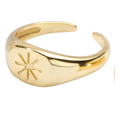Anillo Sello Estrella - Dalila Jewels