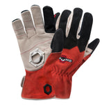 the StoneBreaker tailgating gloves featuring a padded, hexnut-shaped, bottle opener in the right palm
