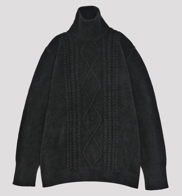 HIGH-NECK CABLE KNIT(受注予約期間終了)