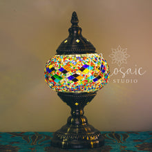 "Load image into Gallery viewer, Handmade Turkish Mosaic Lamp ""Cappadocia Colourful Design"""