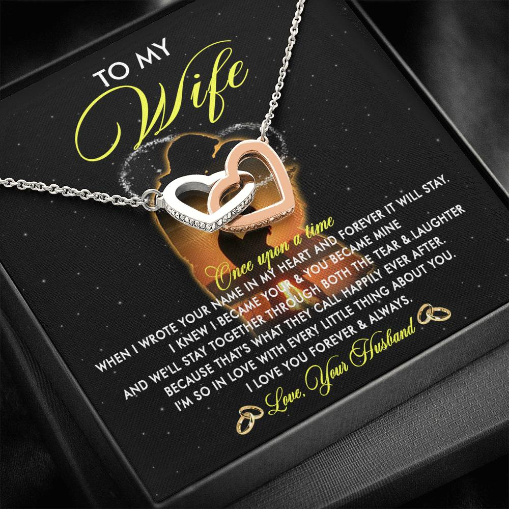 (ALMOST SOLD OUT) To my Wife - I love you forever & always - Necklace