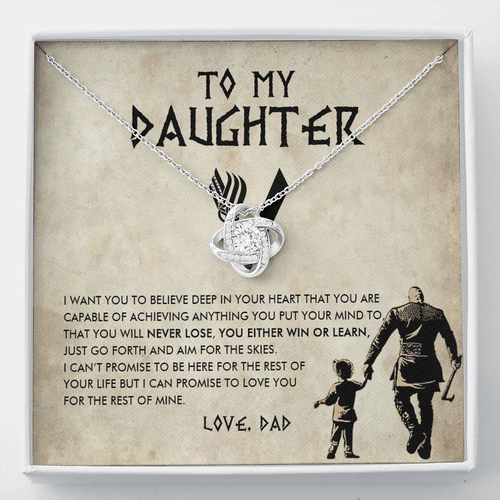 (ALMOST SOLD OUT) To my Daughter - You will never lose - Necklace