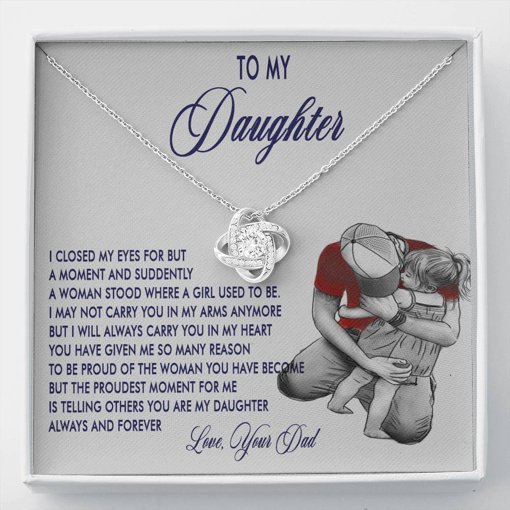 (ALMOST SOLD OUT) To my Daughter - I will always carry you in my heart - Necklace
