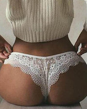 Lace Trim Hollow Out Panty - Xmadstore