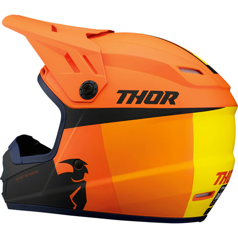 THOR Youth Sector Helmet - Racer - Orange/Midnight