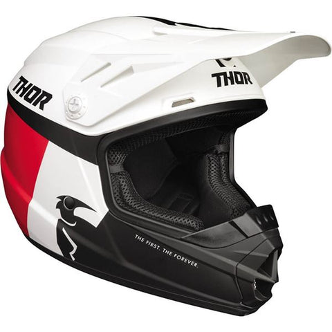 THOR Youth Sector Helmet - Racer - White/Red/Blue - Small