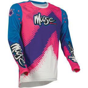 MOOSE RACING SOFT-GOODS Agroid Jersey - Pink/Blue/Purple