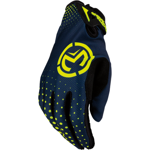 MOOSE RACING SOFT-GOODS SX1 Gloves - Navy/Hi-Viz Yellow