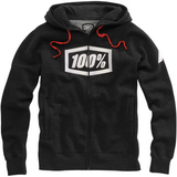 100% Syndicate Fleece Zip-Up Hoodie - Black Heather/White