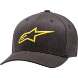 ALPINESTARS (CASUALS) Ageless Curve Hat - Charcoal/Hi Vis Yellow
