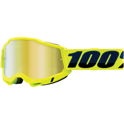 100% Accuri 2 Goggles - Fluo Yellow - Gold Mirror 50221-259-04 - Trailhead Powersports a Mines and Meadows, LLC Company