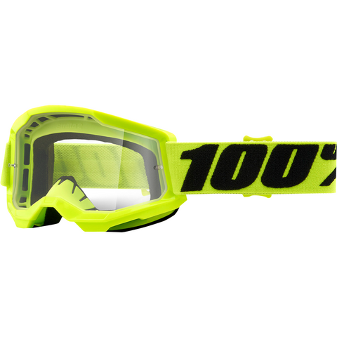 100% Youth Strata 2 Goggles - Yellow - Clear 50521-101-04 - Trailhead Powersports a Mines and Meadows, LLC Company