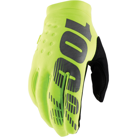 100% Youth Brisker Gloves - Fluorescent Yellow
