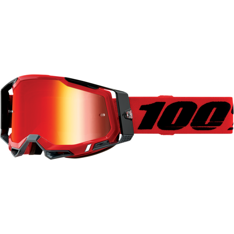 100% Racecraft 2 Goggles - Red - Red Mirror 50121-251-03 - Trailhead Powersports a Mines and Meadows, LLC Company