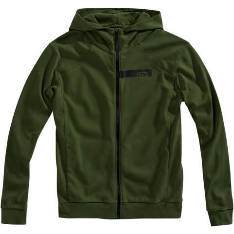 100% Chamber Zip-Up Hoodie - Green