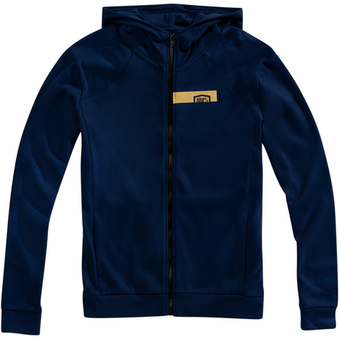 100% Chamber Zip-Up Hoodie - Blue/Gold